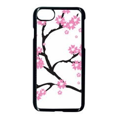 Blossoms Branch Cherry Floral Iphone 7 Seamless Case (black) by Pakrebo