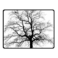 Tree Silhouette Winter Plant Fleece Blanket (small) by Pakrebo