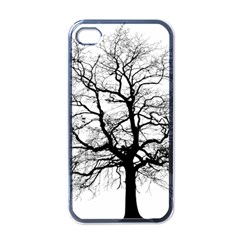 Tree Silhouette Winter Plant Iphone 4 Case (black) by Pakrebo
