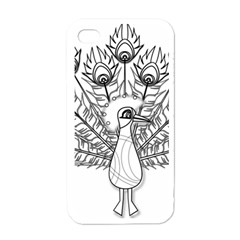 Peacock Plumage Display Bird Iphone 4 Case (white)