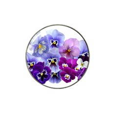 Pansy Isolated Violet Nature Hat Clip Ball Marker (4 Pack)
