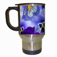 Pansy Isolated Violet Nature Travel Mugs (white)