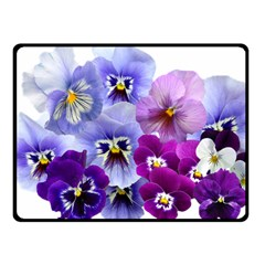 Pansy Isolated Violet Nature Fleece Blanket (small)