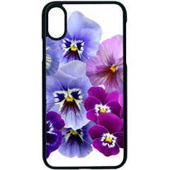 Pansy Isolated Violet Nature Iphone Xs Seamless Case (black)