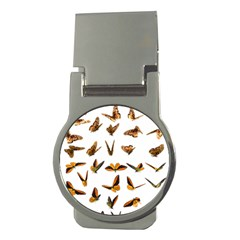 Butterfly Butterflies Insect Swarm Money Clips (round)  by Pakrebo