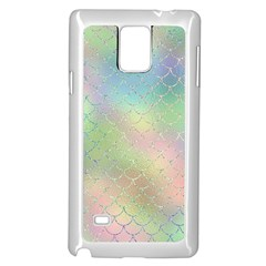 Pastel Mermaid Sparkles Samsung Galaxy Note 4 Case (white)