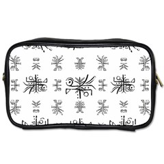 Black And White Ethnic Design Print Toiletries Bag (one Side) by dflcprintsclothing