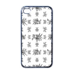 Black And White Ethnic Design Print Iphone 4 Case (black) by dflcprintsclothing