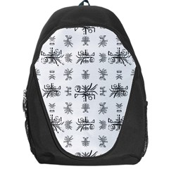 Black And White Ethnic Design Print Backpack Bag by dflcprintsclothing