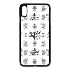 Black And White Ethnic Design Print Iphone Xs Max Seamless Case (black) by dflcprintsclothing
