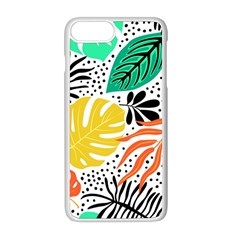 Fancy Tropical Pattern Iphone 8 Plus Seamless Case (white) by tarastyle
