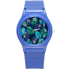 Fancy Tropical Pattern Round Plastic Sport Watch (s) by tarastyle
