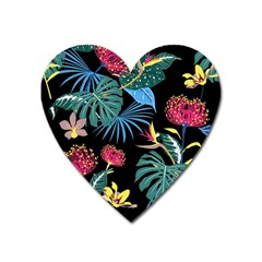 Fancy Tropical Pattern Heart Magnet by tarastyle