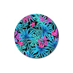 Fancy Tropical Pattern Magnet 3  (round) by tarastyle