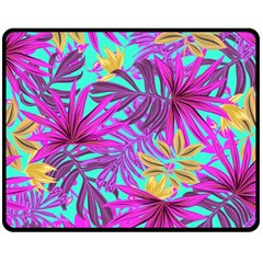 Fancy Tropical Pattern Fleece Blanket (medium)  by tarastyle