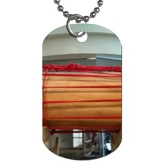 Taiko Drum Dog Tag (two Sides) by Riverwoman