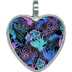 Cute Abstract Pattern  Heart Necklace by tarastyle