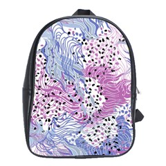 Cute Abstract Pattern  School Bag (xl) by tarastyle