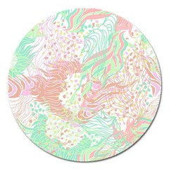 Cute Abstract Pattern  Magnet 5  (round) by tarastyle