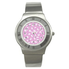 Butterfly Pattern Stainless Steel Watch by tarastyle