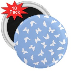 Butterfly Pattern 3  Magnets (10 Pack)  by tarastyle