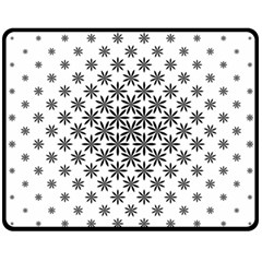Black And White Pattern Fleece Blanket (medium)  by tarastyle