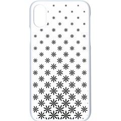 Black And White Pattern Iphone X Seamless Case (white) by tarastyle