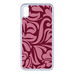 Red Floral Pattern Iphone Xs Max Seamless Case (white) by tarastyle