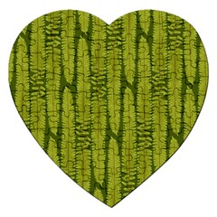 Fern Texture Nature Leaves Jigsaw Puzzle (heart)