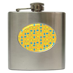 Lemons Ongoing Pattern Texture Hip Flask (6 Oz) by Mariart