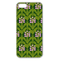 Pattern Nature Texture Heather Apple Seamless Iphone 5 Case (clear)