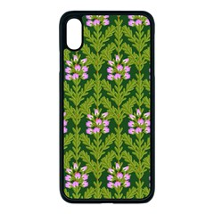 Pattern Nature Texture Heather Iphone Xs Max Seamless Case (black) by Alisyart