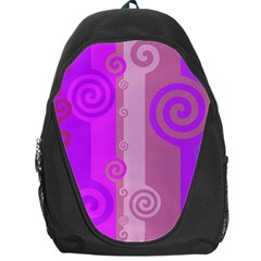 Ring Kringel Background Abstract Purple Backpack Bag