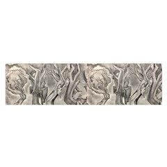 Max Franzblau s B&w Surrealistic Trees Satin Scarf (oblong)