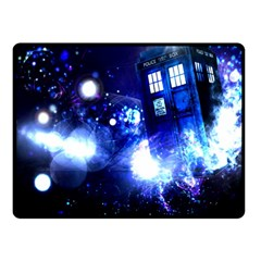 Tardis Background Space Fleece Blanket (small) by Sudhe