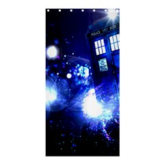 Tardis Background Space Shower Curtain 36  X 72  (stall)
