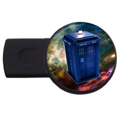 The Police Box Tardis Time Travel Device Used Doctor Who Usb Flash Drive Round (4 Gb)