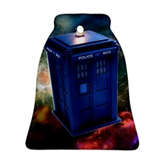 The Police Box Tardis Time Travel Device Used Doctor Who Bell Ornament (two Sides)