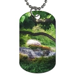 Chicago Garden Of The Phoenix Dog Tag (two Sides) by Riverwoman