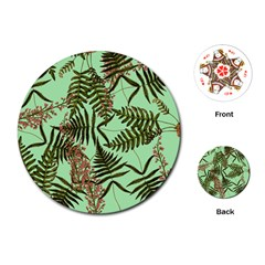 Fern Green Playing Cards (round)