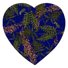 Fern Blue Jigsaw Puzzle (heart) by snowwhitegirl