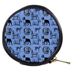 Dog Pattern Blue Mini Makeup Bag