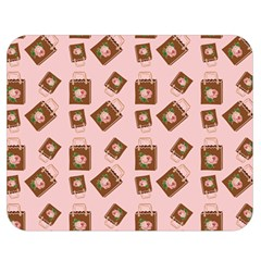 Shopping Bag Pattern Pink Double Sided Flano Blanket (medium)