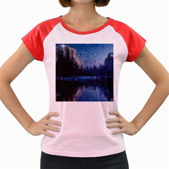 Mountain Glass Women s Cap Sleeve T-shirt by snowwhitegirl
