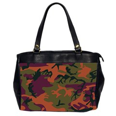 Camouflage Orange Oversize Office Handbag (2 Sides) by snowwhitegirl