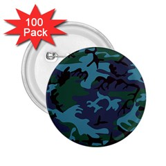 Camouflage Blue 2 25  Buttons (100 Pack)  by snowwhitegirl
