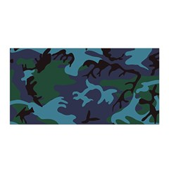 Camouflage Blue Satin Wrap by snowwhitegirl