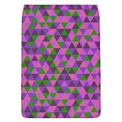 Retro Pink Purple Geometric Pattern Removable Flap Cover (l)