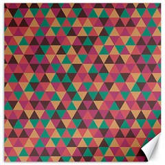 Retro Orange Green Geometric Pattern Canvas 12  X 12