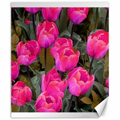 Pink Tulips Canvas 20  X 24  by snowwhitegirl